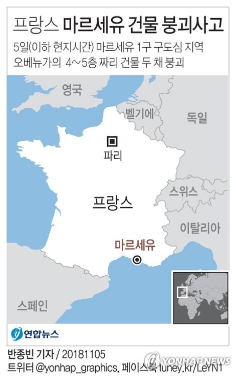 프랑스 마르세유서 건물 두 채 붕괴…사상자 파악중(종합)
