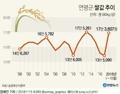 [그래픽] 연평균 쌀값 추이