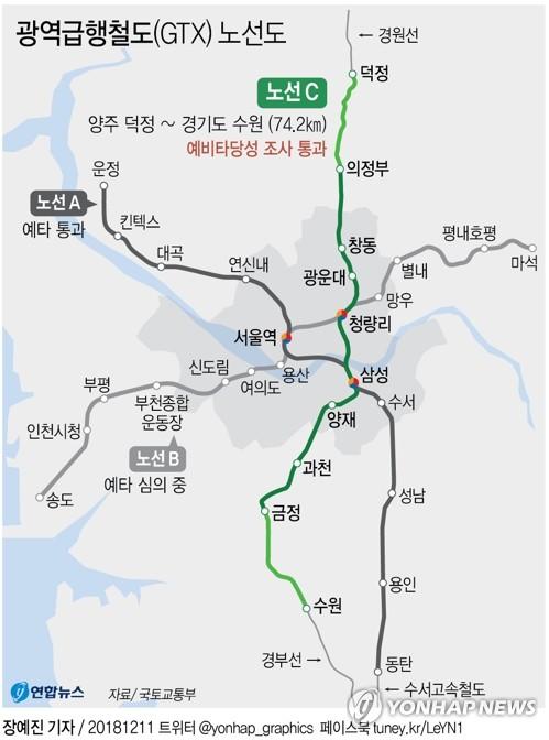 운정∼동탄 GTX A노선·신안산선 건설 본궤도 올랐다(종합)