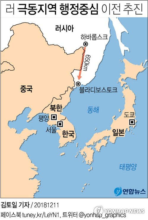 러, 극동지역 행정중심 하바롭스크→블라디보스토크 이전 추진