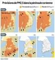 Prévisions de PM2,5 dans la péninsule coréenne