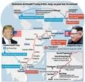 Itinéraires de Donald Trump et Kim Jong-un pour leur 2e sommet