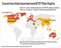Countries that have banned B737 Max flights