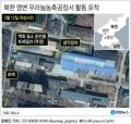 북한 영변 우라늄농축공장서 활동 포착