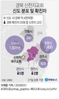 [그래픽] 경북 신천지대구교회 신도 분포 및 확진자