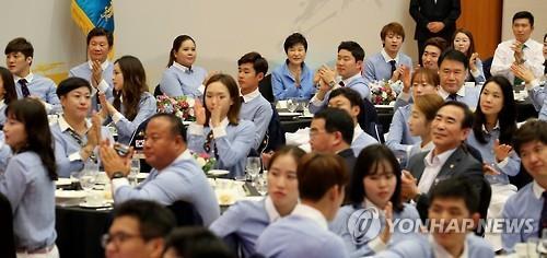 朴槿惠赞韩奥运军团给国民以自信