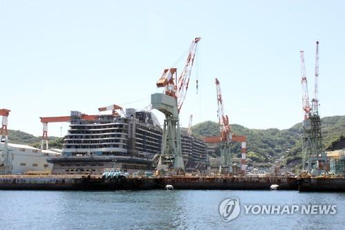 图为日本长崎造船厂,韩国劳工曾被强掳到此。(韩联社)