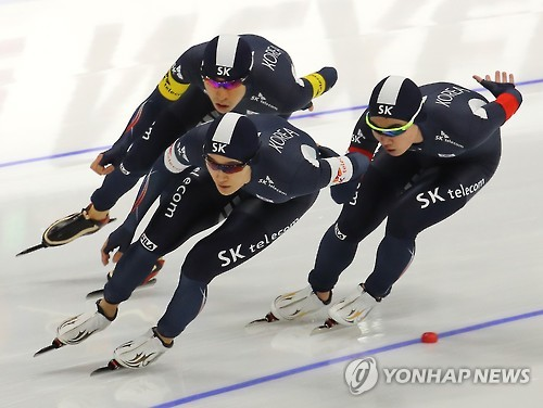 韩国短道速滑男队(韩联社)