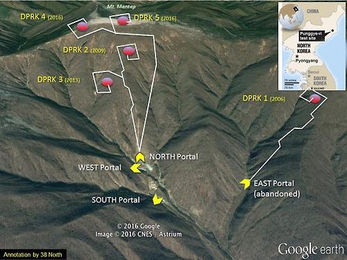 丰溪里核试验场卫星图片(38North官网截图)