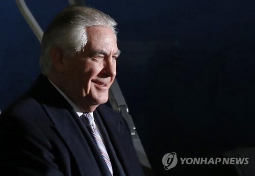美外长蒂勒森将于17日到韩朝边境近距离向北喊话。(韩联社)