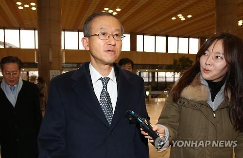 资料图片:韩国外交部第一次官林圣男(韩联社)