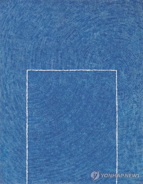 金焕基:《静谧(Tranquillity) 5-IV-73 #310》。1973年。(韩联社)