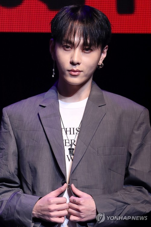资料图片:男团Highlight成员龙俊亨(韩联社)