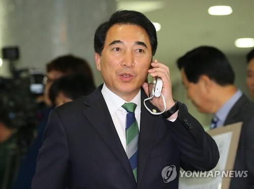 资料图片:青瓦台发言人朴洙贤(韩联社)
