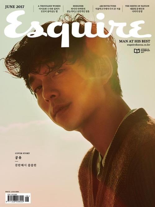 在韩国发行的《Esquire》杂志6月号封面