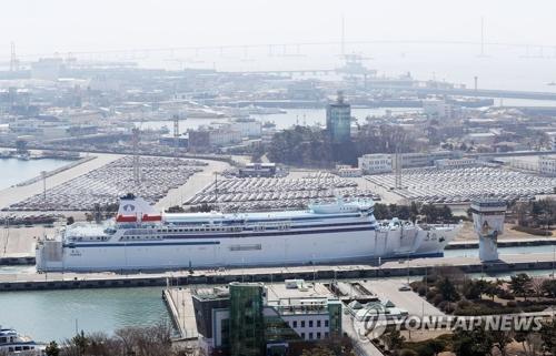 资料图片:韩中轮渡(韩联社)