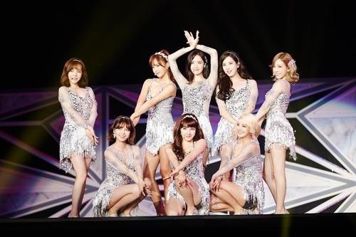 资料图片:少女时代舞台照(韩联社)