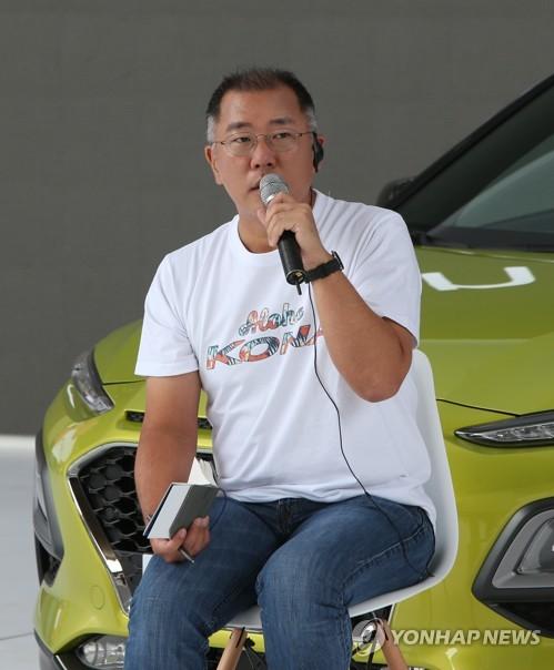 资料图片:现代汽车副会长郑义宣(韩联社)