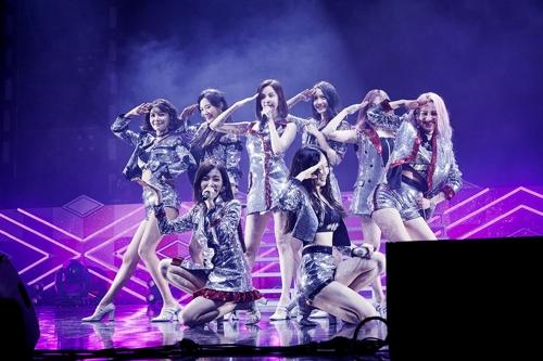 8月5日,在首尔奥林匹克公园,少女时代举行10周年粉丝见面会。(SM娱乐提供)