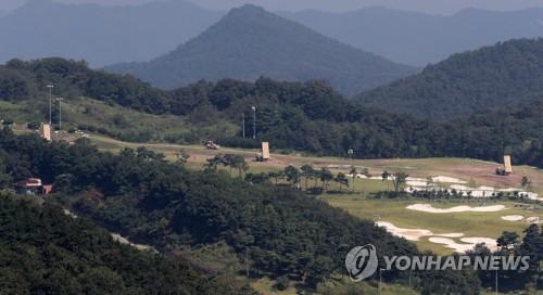 """资料图片:图为庆尚北道星州的""""萨德""""基地。(韩联社)"""