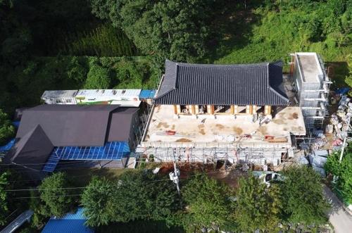 图为正在建设的日本军慰安妇纪念馆。(韩联社)