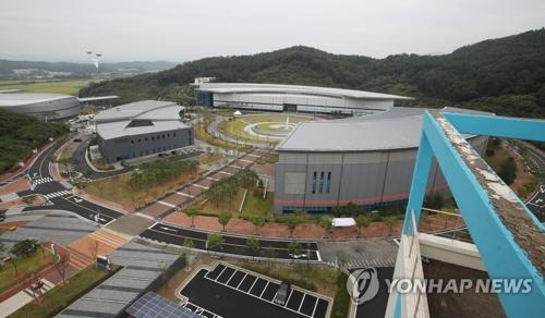 图为镇川国家队选手村全景。(韩联社)
