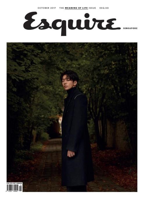 南柱赫登《时尚先生》新加坡版封面(韩联社)