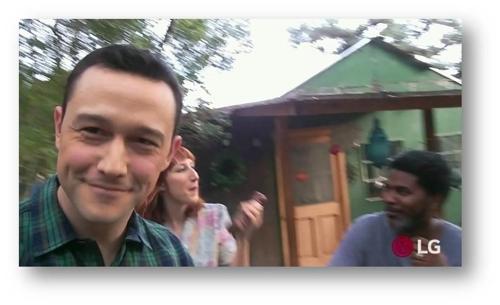 图为约瑟夫・高登-莱维特用V30拍摄的视频。(韩联社/LG电子提供)