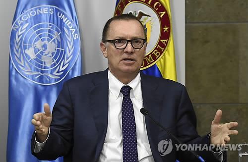 资料图片:联合国副秘书长杰弗里·费尔特(韩联社)