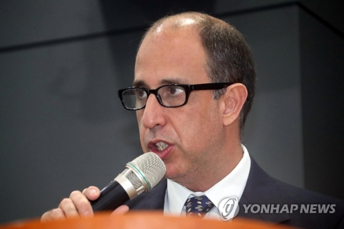 资料图片:联合国朝鲜人权问题特别报告员托马斯・奥赫亚・金塔纳(韩联社)
