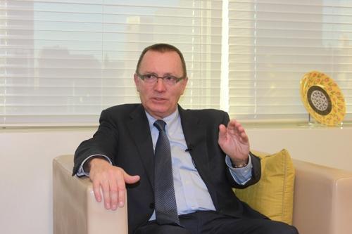 联合国负责政治事务的副秘书长杰弗里・费尔特曼(韩联社)