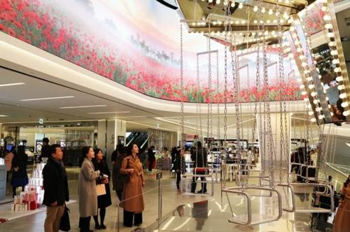 资料图片:新世界免税店(韩联社/新世界免税店提供)