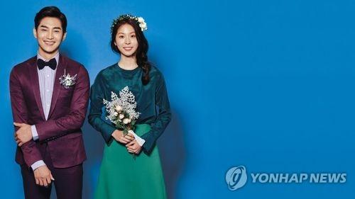 资料图片:韩国婚介公司DUO宣传海报(韩联社/DUO提供)