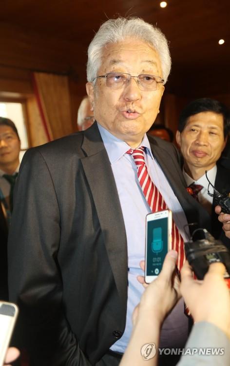 资料图片:朝鲜国际奥委会委员张雄(韩联社)