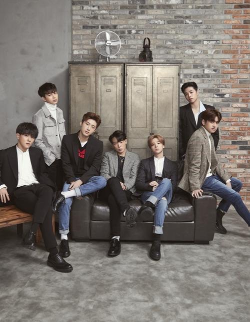 男团iKON(韩联社/YG娱乐提供)