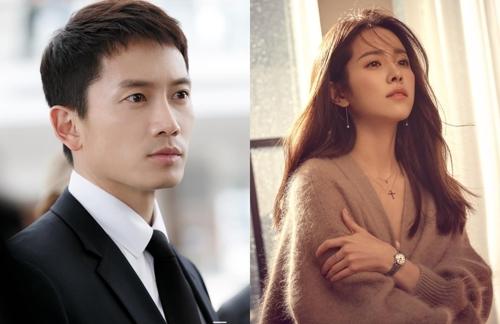 演员tvN池晟(左)和韩智敏(韩联社/各经纪公司提供)