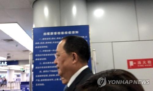 资料图片:朝鲜外相李勇浩(韩联社)