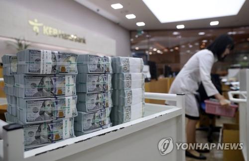 资料图片:这是位于首尔明洞的KEB韩亚银行总行,图片摄于2017年9月5日。(韩联社)