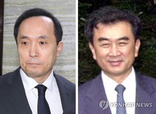 资料图片:左为金相均、右为金昌善。(韩联社)