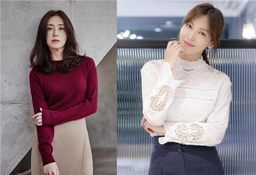 演员宋允儿(左)和金素妍(韩联社/各经纪公司提供)