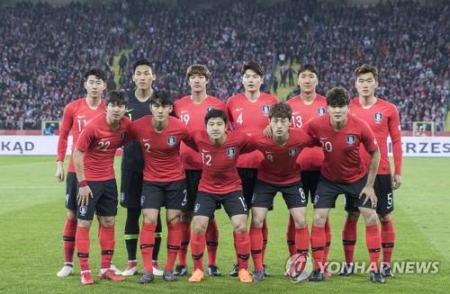 资料图片:韩国国足队(韩联社)