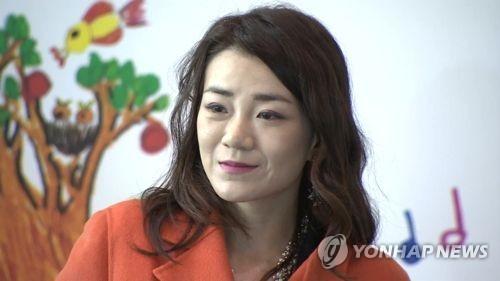 资料图片:大韩航空专务董事赵显�G(韩联社/韩联社TV)