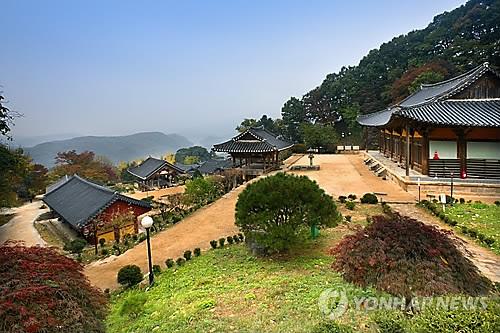 资料图片:荣州浮石寺(韩联社)
