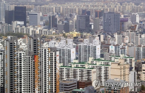 资料图片:首尔市公寓林立(韩联社)