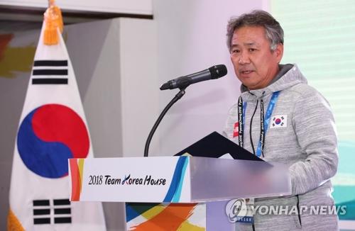 资料图片:大韩体育会长李起兴(韩联社)