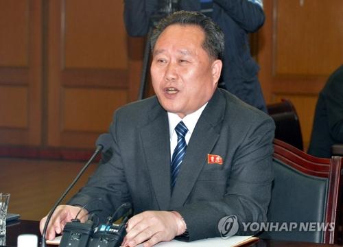 资料图片:朝鲜祖国和平统一委员长李善权(韩联社)