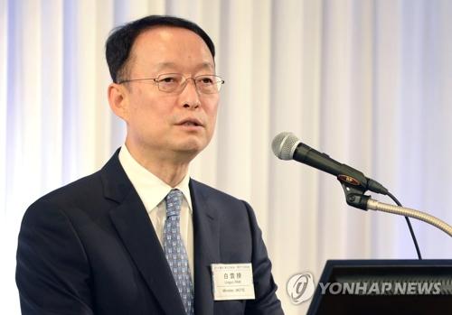 资料图片:韩国产业通商资源部长官白云揆(韩联社/产业通商资源部提供)
