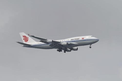 资料图片:中国国航波音747客机(新加坡《海峡时报》官方博客)