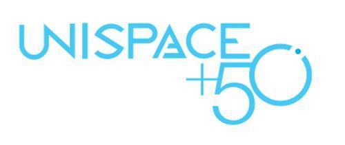 资料图片:UNISPACE+50标志(官方网站截图)