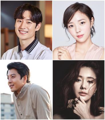 顺时针方向依次为演员李帝勋、蔡秀彬、金智洙、李东健。(经纪公司提供)